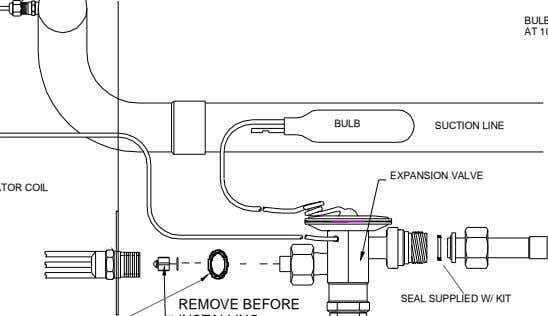 BULB SUCTION LINE EXPANSION VALVE SEAL SUPPLIED W/ KIT