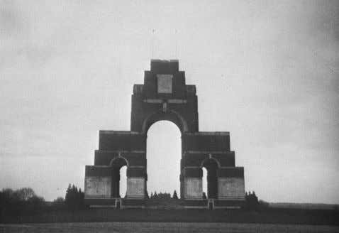 Edwin Lutyens 1869 - 1944 The Missing of the Somme • This memorial, Thieval Memorial arch,