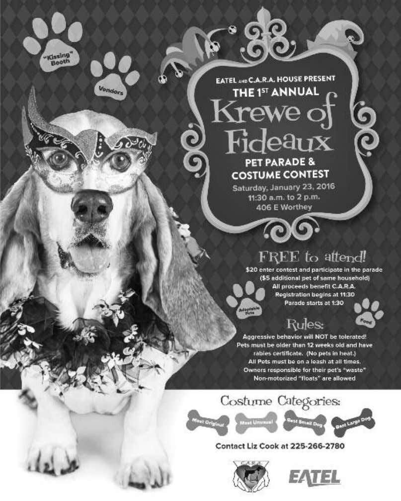 "adoptable animals who are looking for a ""fur-ever"" home. This pet parade and costume contest event"