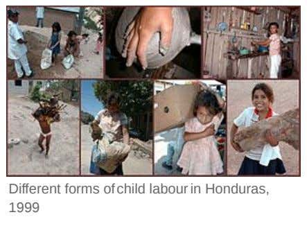 Different forms of child labour in Honduras, 1999