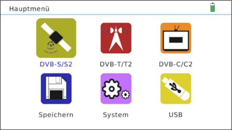 the MENU or EXIT button to exit the submenu step by step. DVB-S/S2 Menu for DVB-S