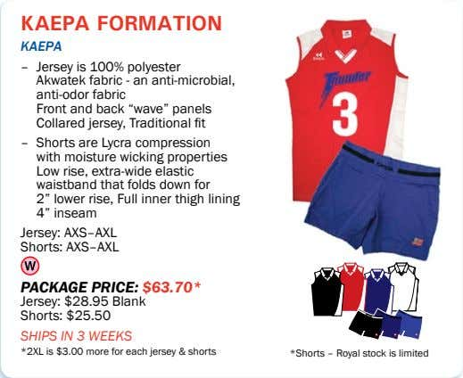 kaepa formation kaepa – Jersey is 100% polyester Akwatek fabric - an anti-microbial, anti-odor fabric