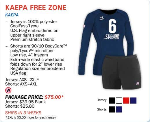 kaepa free zone kaepa – Jersey is 100% polyester CoolFast/Lycra U.S. Flag embroidered on upper