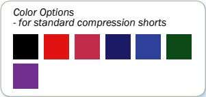Color Options - for standard compression shorts