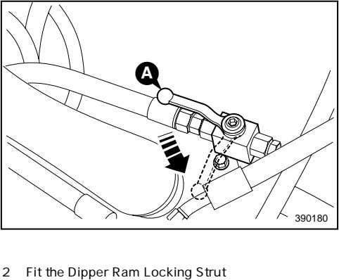 A 390180 2 Fit the Dipper Ram Locking Strut