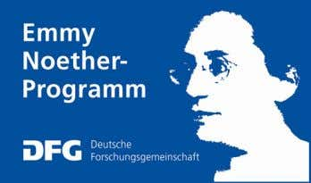 This workshop is funded by an Emmy Noether grant sponsored by the German Research Foundation
