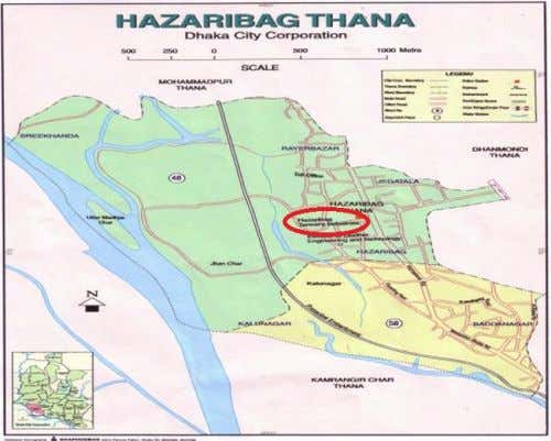 being discharged without any treatment into adjacent drain. Fig. 1. Location of Hazaribag tanning industries. Fig.