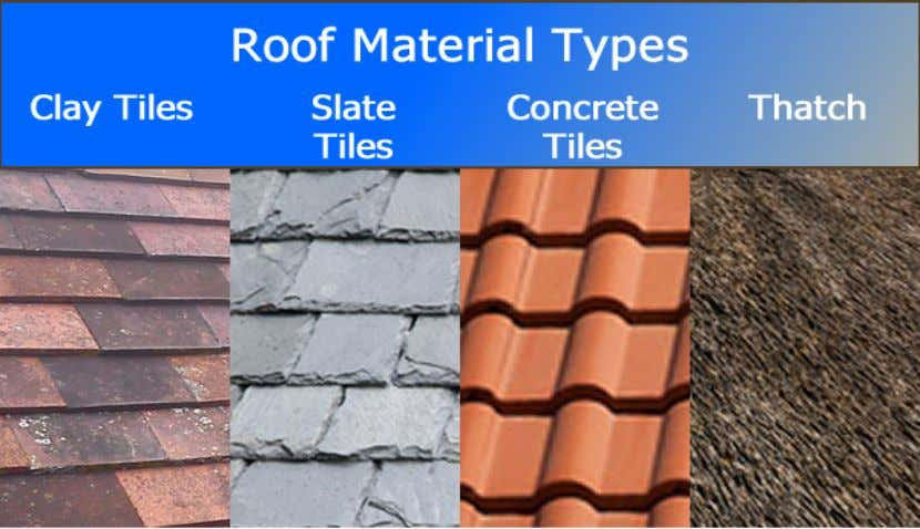 •   Natural slate tiles – these are primarily rectangular in shape although other flat