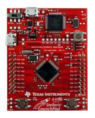 Stellaris ® LaunchPad  ARM ® Cortex™-M4F 64-pin 80MHz LM4F120H5QR  On-board USB ICDI (In-Circuit Debug