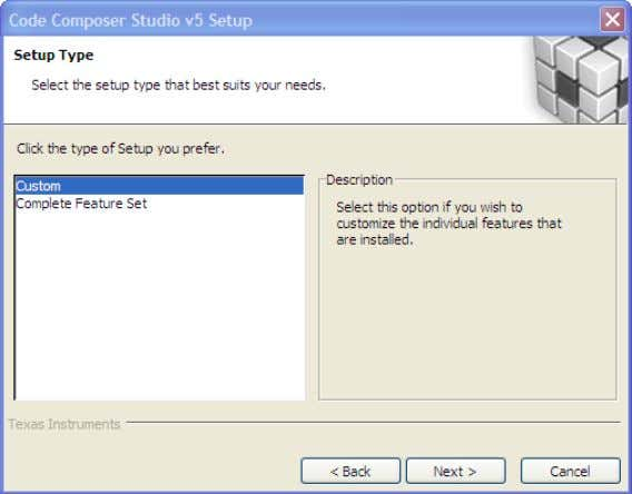 "Up 6. Select ""Custom"" for the Setup type and click Next. 7. The next dialog, select"