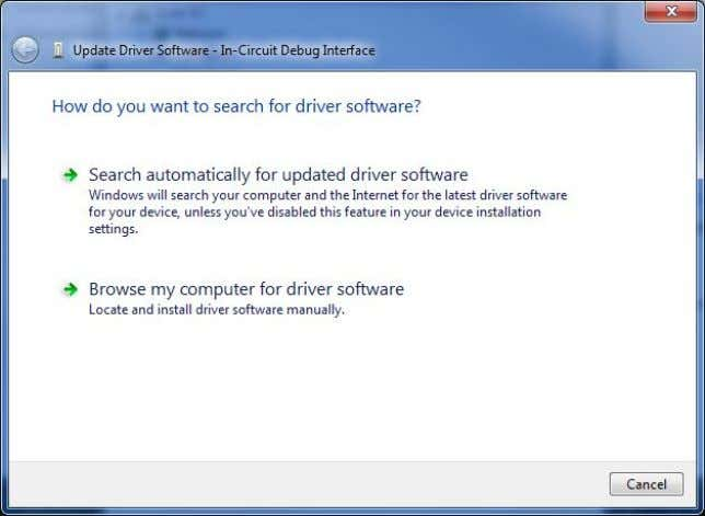 "computer for driver software"" in the window that appears. Direct the wizard to the drivers that"
