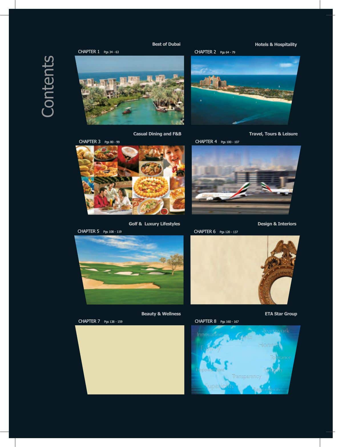 Best of Dubai Hotels & Hospitality CHAPTER 1 Pgs 34 - 63 CHAPTER 2 Pgs 64