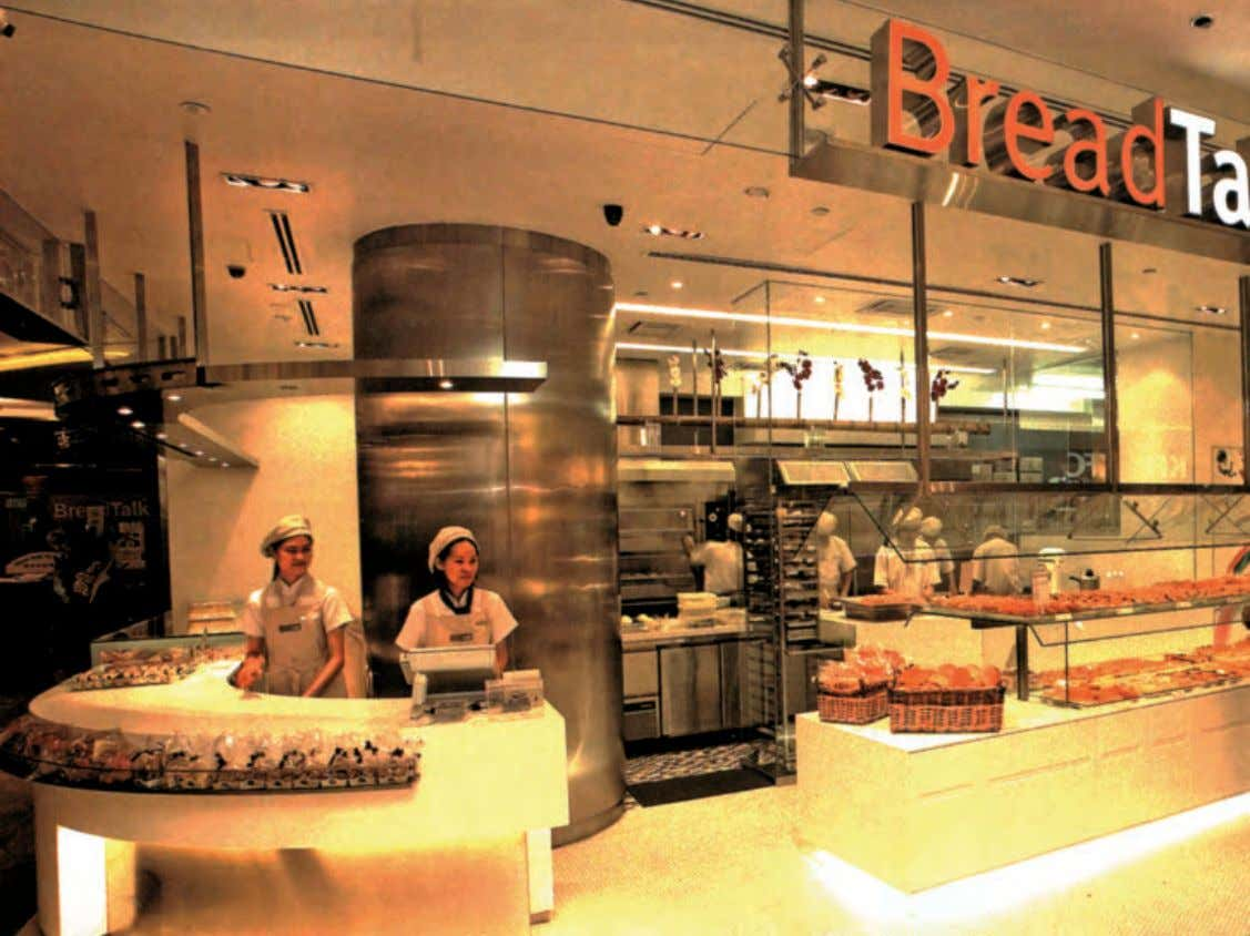 "Casual Dining and F&B BreadTalk ""BreadTalk is a combination of unique products and sleek design catering"