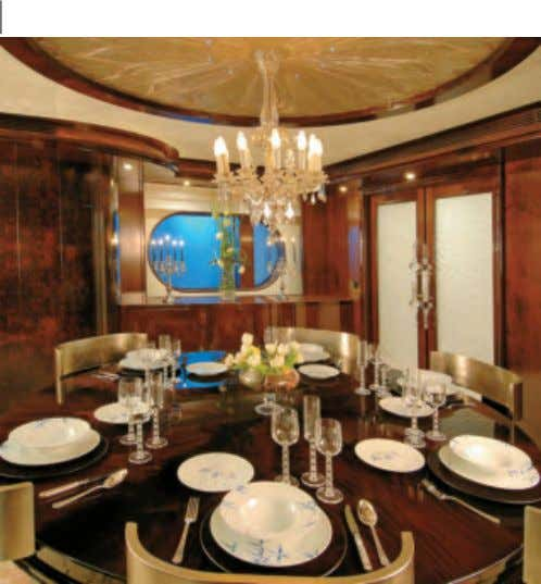Wine and dine in style, M.Y. Ashena 45m Business Development Manager, Lea Badro, Greenline Yacht Interiors