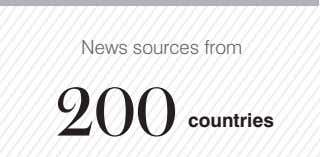 News sources from 200 countries