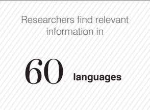 Researchers find relevant information in 60 languages