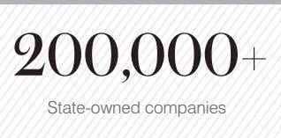 200,000+ State-owned companies