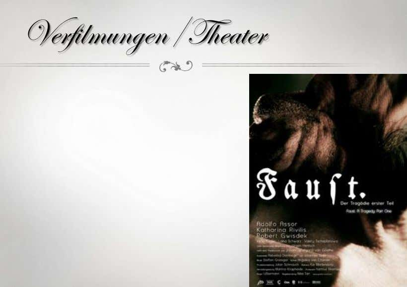 Verfilmungen/Theater