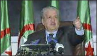 """The crisis exprienced by Algeria ""gave its people strength,"" Sellal argued, affir- ming that Algerians"