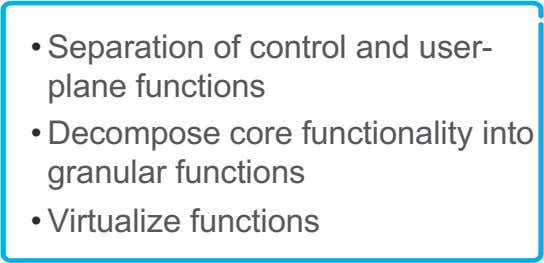 Flexible core architecture Network Function Virtualization (NFV) is an enabler for programmability in mobile core. ACM