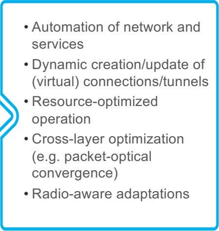 for programming • Develop Efficient sharing mechanisms Software-Defined Networking (SDN) is an enabler for