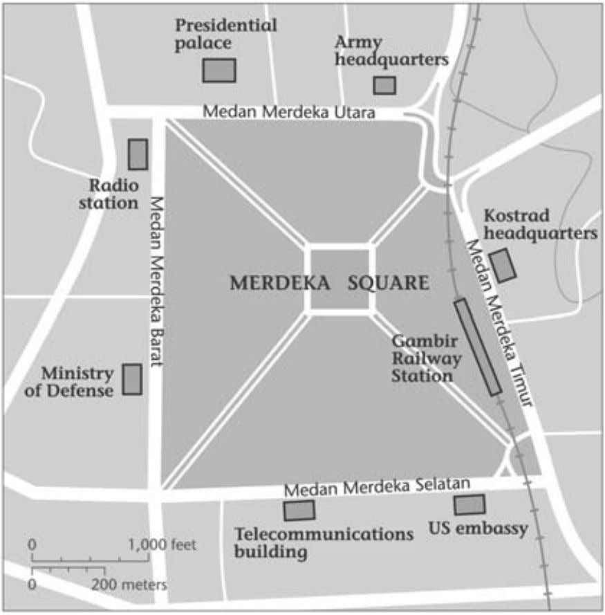 36 t The Incoherence of the Facts Map 2. Merdeka Square. another contingent that was operating