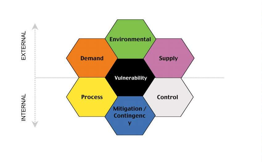 the workbook itself and guides the user in its application. Figure 3: External and Internal Vulnerability