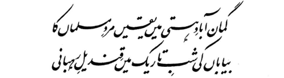 In your arms is the flight of the royal hawk of Quhistan. Guman Abad-E-Hasti Mein Yaqeen