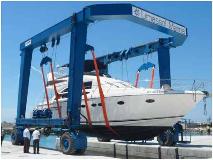 Equipment for boat handling and boat yards LIMASSOL (CYPRUS) Client: LIMASSOL MARINA Supplied equipment: Marine boat