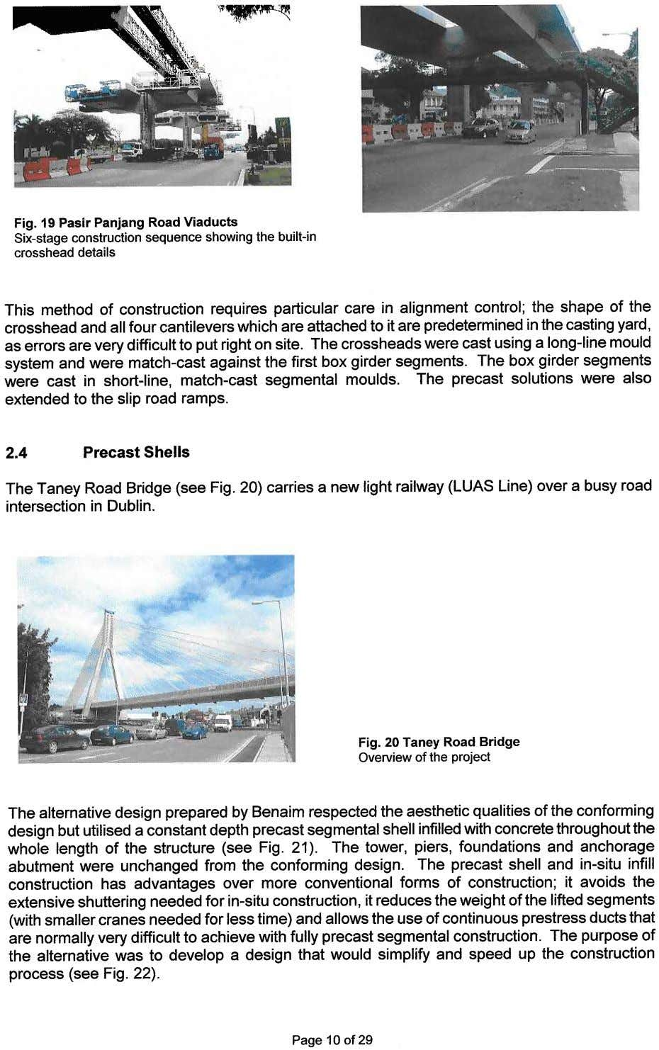 Fig. 19 Pasir Panjang Road Viaducts Six-stageconstruction sequence showing the built-in crosshead details This method