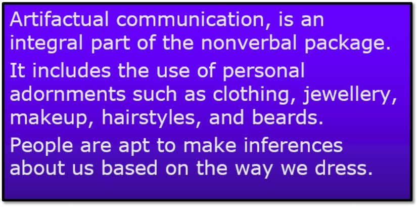 Clothing and artificial Communication