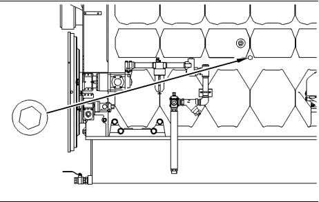 Maintenance Section Cooling System Coolant (ELC) - Change g00475784 Illustration 78 Location of the drain plug
