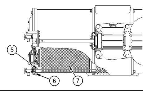 a rubber mallet in order to relieve any spring pressure. Illustration 103 (5) Wire rack (6)