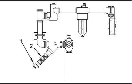 i n g Motor Lines Screen - Clean SMCS Code: 1451-070-LI Illustration 65 (1) Plug (2)