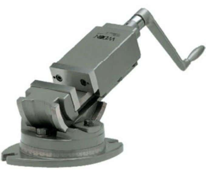 involving compound angles, a universal vise is commonlyused. UniversalAngleMillingVise.