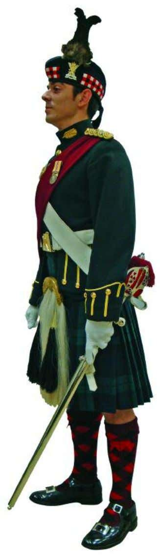 The Royal Regiment of Scotland - Dress Regulations officer N o. 1C - Levee dress 11