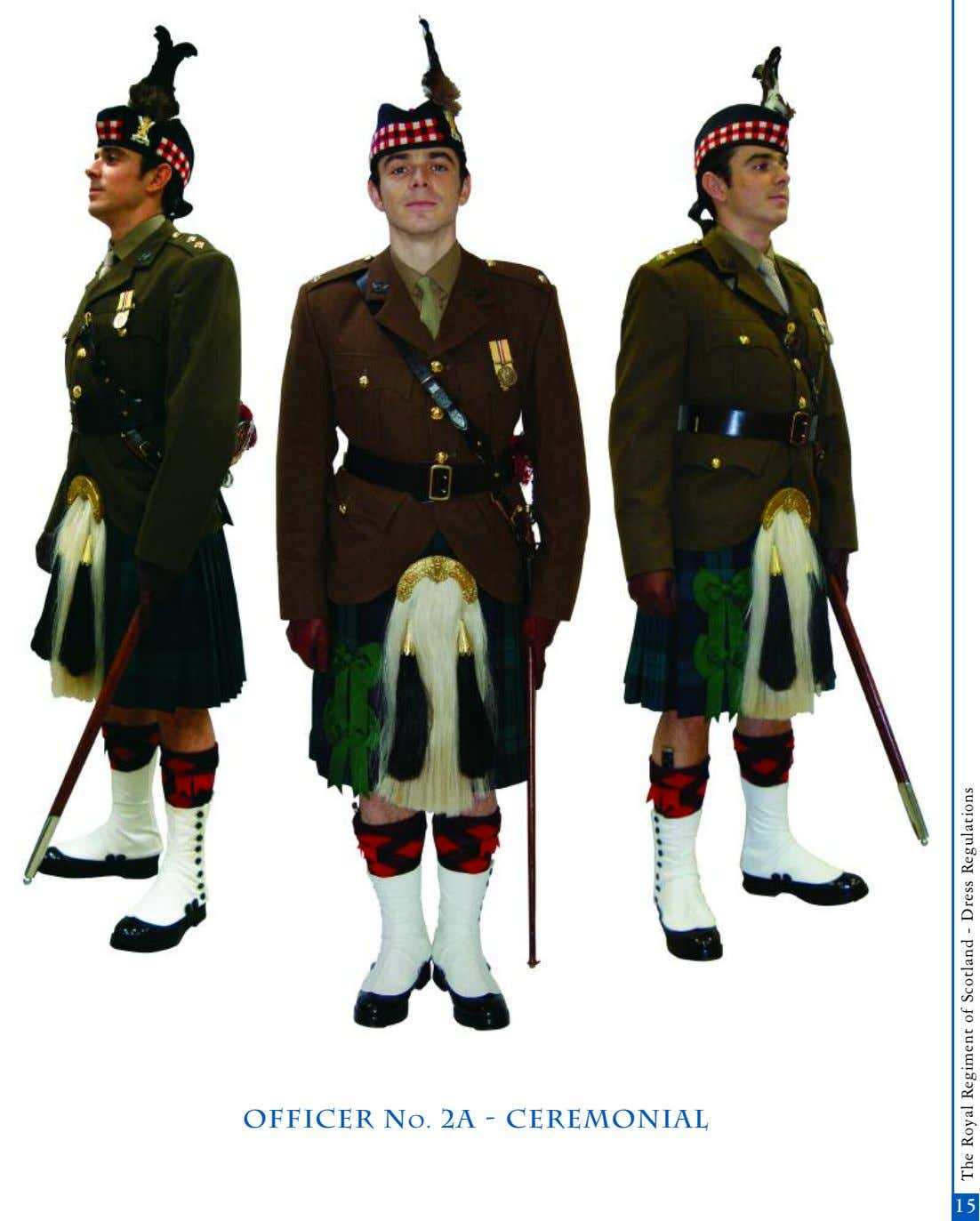 officer No. 2A - Ceremonial 13 15 The Royal Regiment of Scotland - Dress Regulations