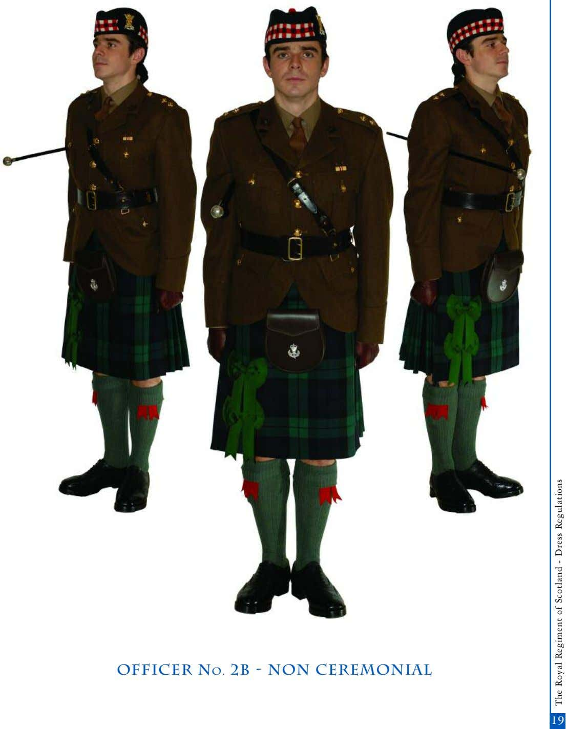 officer No. 2b - non Ceremonial 17 19 The Royal Regiment of Scotland - Dress