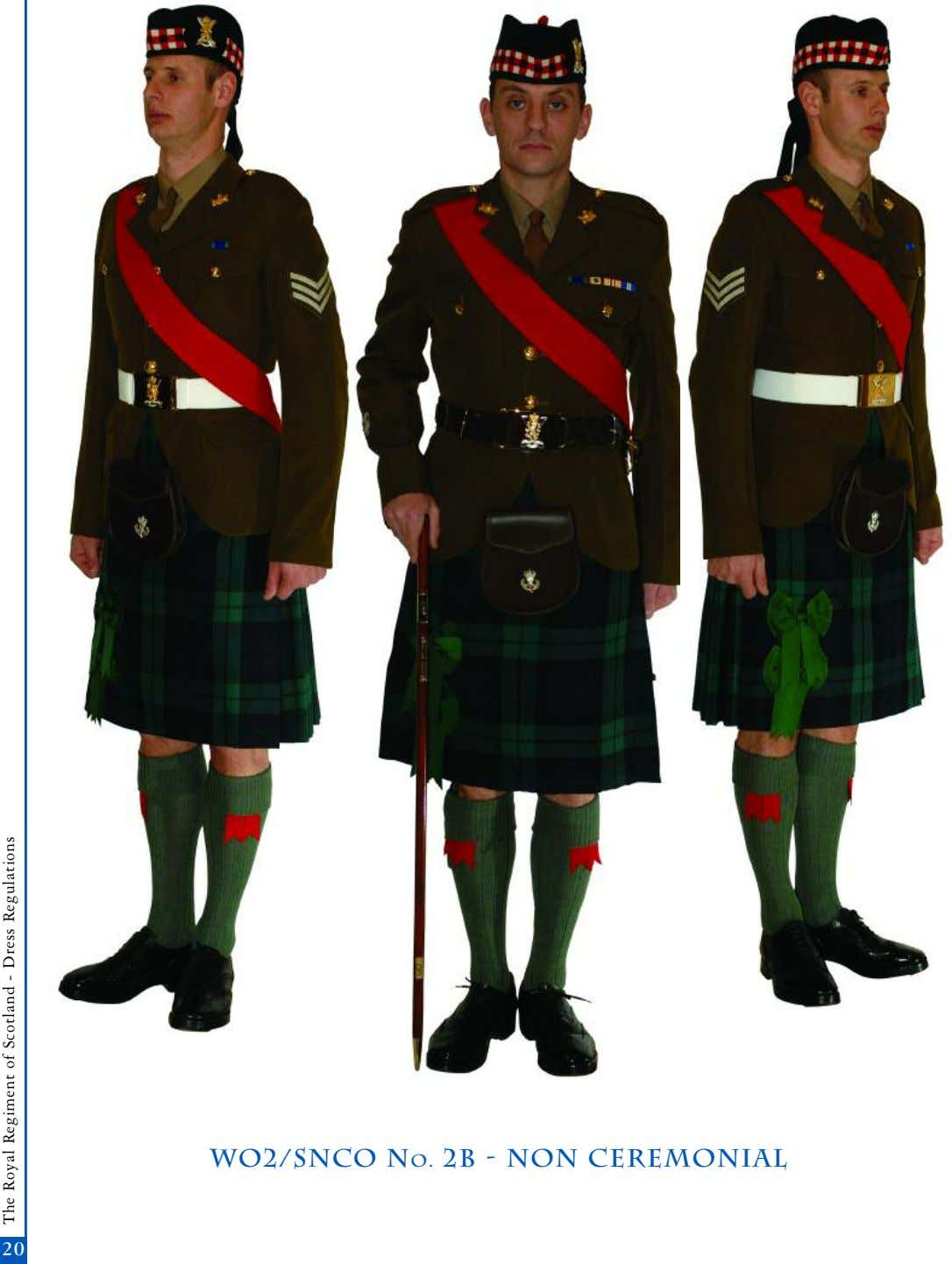 wo2/snco No. 2b - non Ceremonial 20 The Royal Regiment of Scotland - Dress Regulations