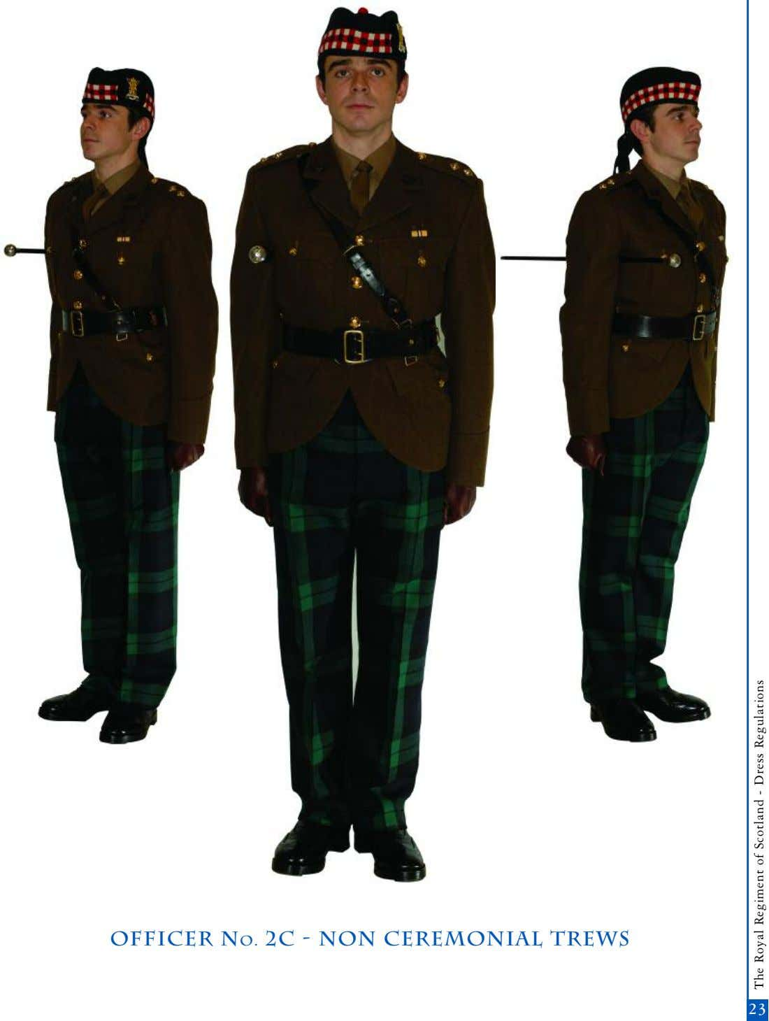 OFFICER No. 2c - non Ceremonial trews 21 23 The Royal Regiment of Scotland -