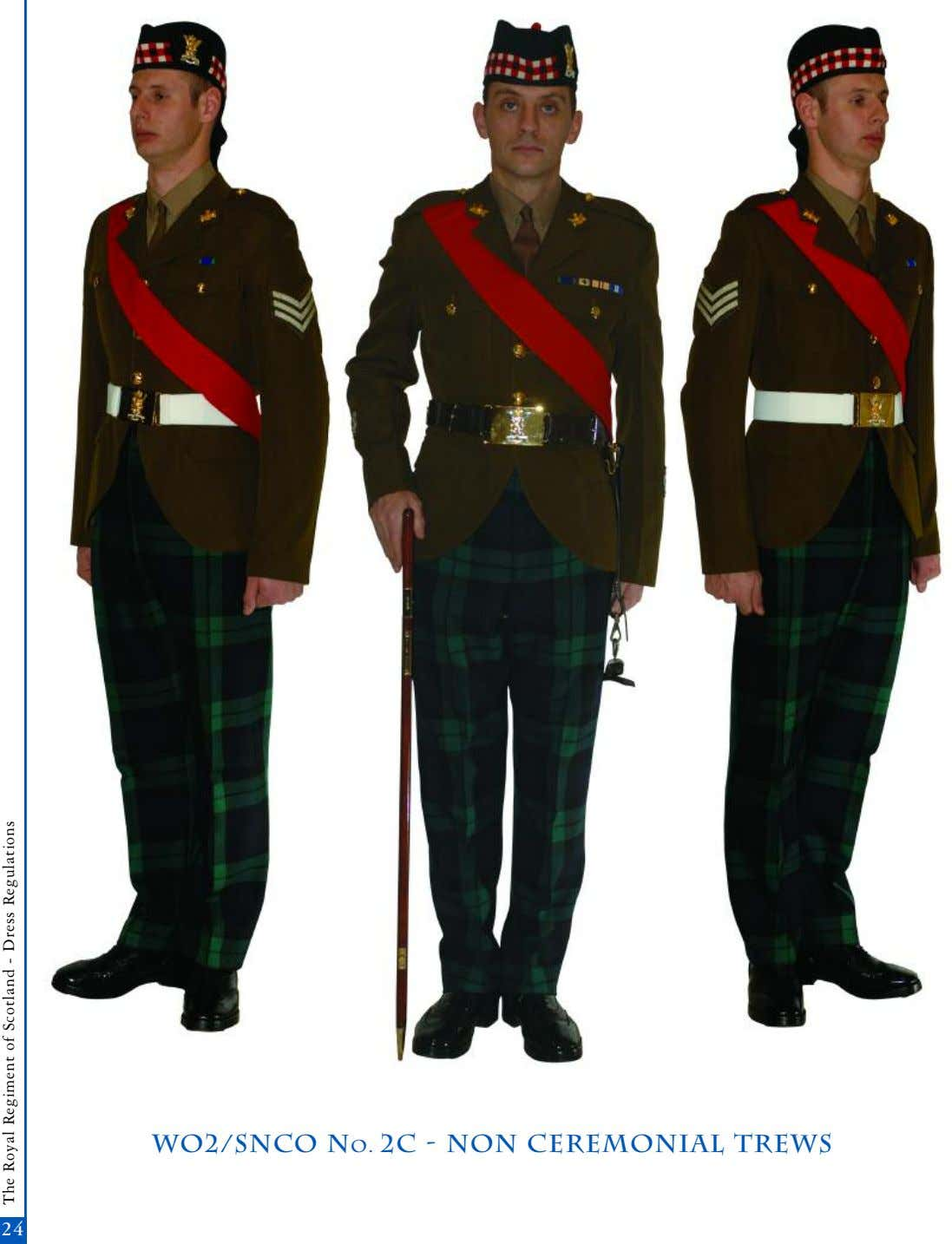 wo2/snco No. 2c - non Ceremonial trews 2424 The Royal Regiment of Scotland - Dress