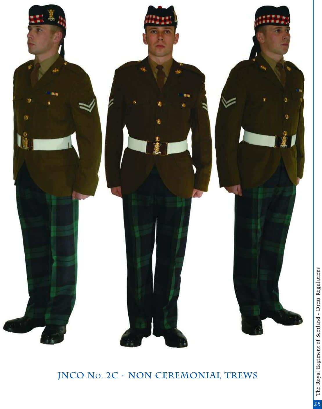 jnco No. 2c - non Ceremonial trews 25 The Royal Regiment of Scotland - Dress