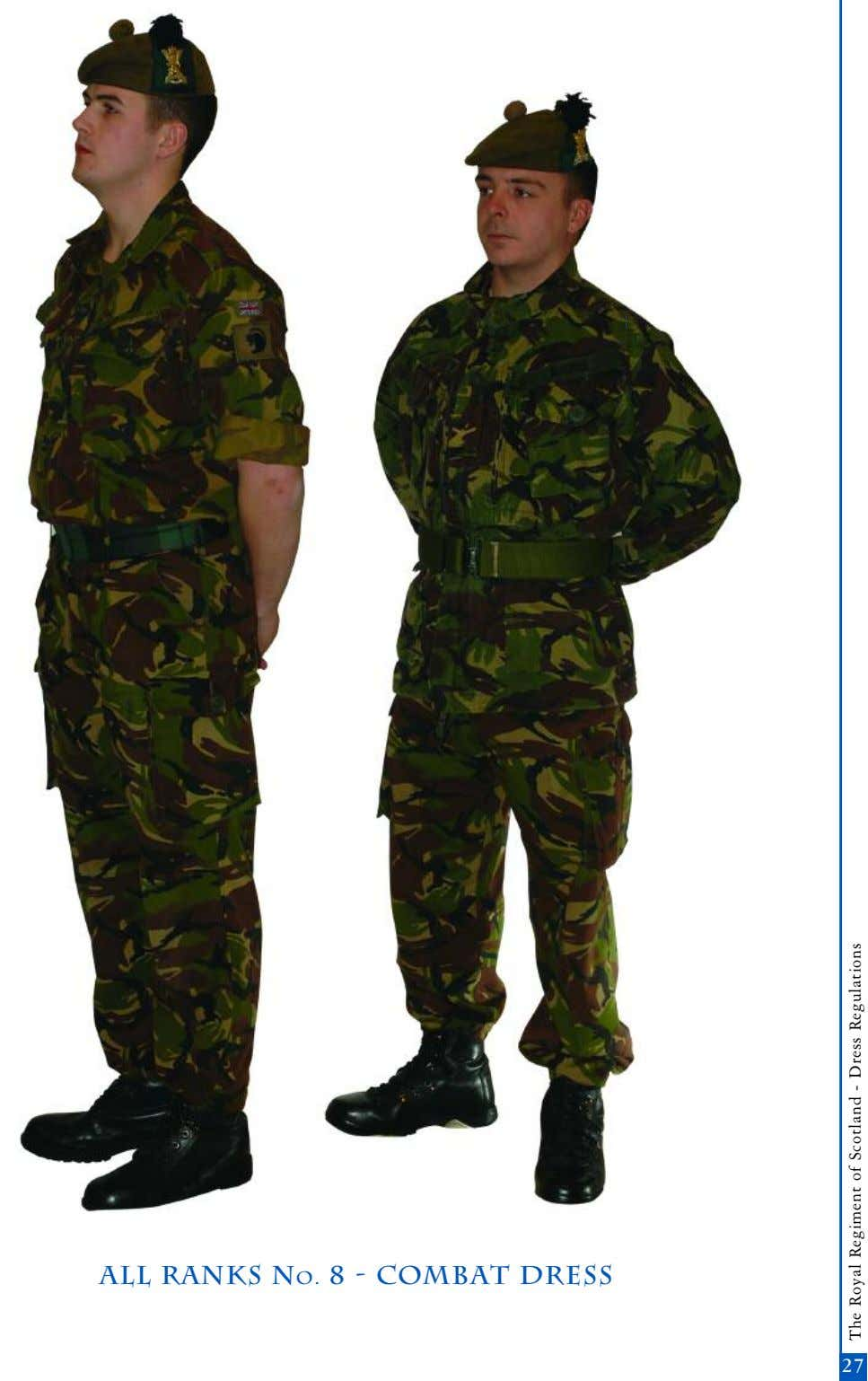 all ranks No. 8 - Combat dress 25 27 The Royal Regiment of Scotland -