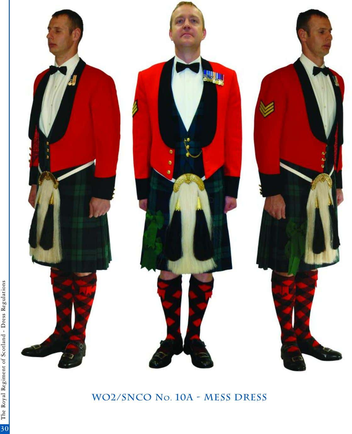 wo2/snco No. 10A - mess dress 3030 The Royal Regiment of Scotland - Dress Regulations