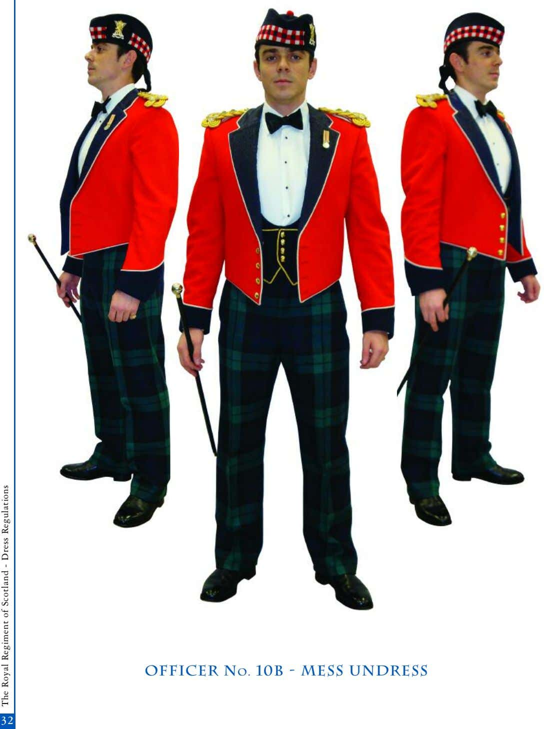 officer No. 10b - mess undress 32 The Royal Regiment of Scotland - Dress Regulations