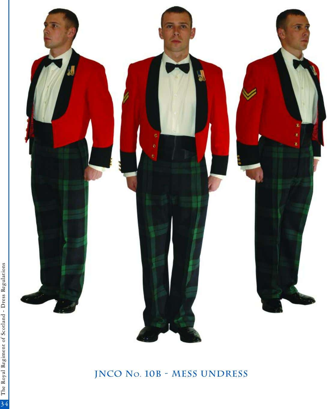 jnco No. 10b - mess undress 3434 The Royal Regiment of Scotland - Dress Regulations