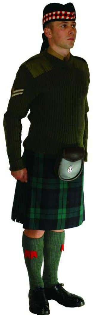 The Royal Regiment of Scotland - Dress Regulations jnco/pte N o. 13a - barrack dress 3838