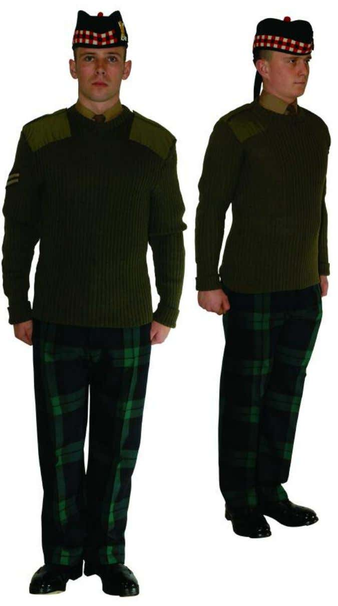 The Royal Regiment of Scotland - Dress Regulations jnco N o. 13b - barrack dress, trews
