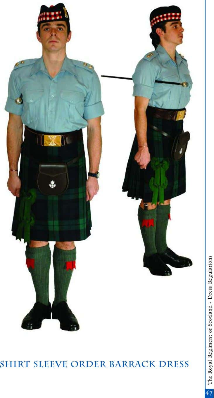 shirt sleeve order barrack dress 45 47 The Royal Regiment of Scotland - Dress Regulations