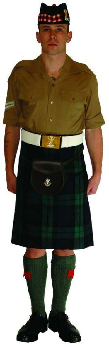 The Royal Regiment of Scotland - Dress Regulations jnco N o. 14b - shirt sleeve order